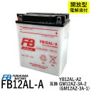 古河電池 FB12AL-A 【互換YUASA ユアサ YB12AL-A2 YB12AL-A GM12AZ-3A-1 GM12AZ-3A-2】 ビラーゴ400 ホンダ除雪機(HS970 SB690 SB655 HS660 HS760 HS870HS555 HS655 ) (FB) フルカワバッテリー