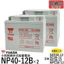 2個セット 台湾 YUASA ユアサ NP40-12B NP38-12 互換 セニアカー対応バッテリー SER38-12 SC38-12 HC38-12 NPC38-12