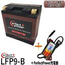 【リチウムバッテリー+P-Power充電器セット】 PERFECT POWER LFP9-B + PERFECTPOWER バッテリー充電器...