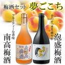 【送料無料】12/28まで!【贈り物に最適な梅酒ギフト】夢ごこち「梅酒と泡盛梅酒のセットで
