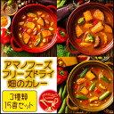 アマノフーズ フリーズドライ 畑のカレー3種類15食セット 即席(容器付き)【あす楽対応】