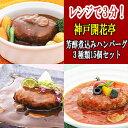 レトルト ハンバーグ 神戸開花亭 芳醇煮込みハンバーグ 3種類15個セット お歳暮 敬老