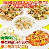 送料無料 春雨スープ 熊本 ご当地グルメ 太平燕(たいぴーえん)5種類75食セット くまモン マグカップサイズ イケダ食品【あす楽対応】