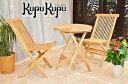 ガーデン テーブルセット 3点セット 折り畳み ガーデンファニチャー 庭 屋内外 兼用 ナチュラル ガーデン家具 木製 リゾート