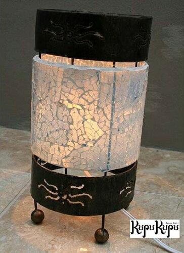 バリ島モザイクガラスランプ