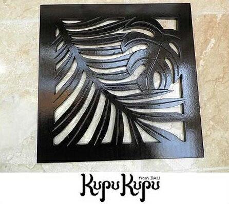 木製彫刻レリーフ30×30(A)ヤシ&モンステラMDF光沢あり木彫りの壁掛けインテリアレリーフ欄間木