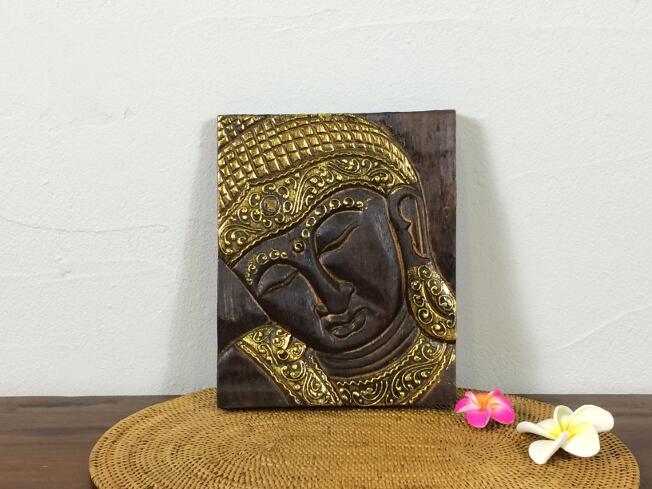 木製アートパネルレリーフブッダウォールデコレーションバリ雑貨アジアン雑貨インテリアエスニック木彫り彫