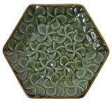 フランジパニ六角皿