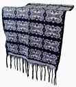 スンバイカット 浮織黒系 144*55【バリ・アジアン雑貨バリパラダイス】