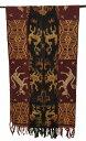 スンバ島イカット シェル付赤系×茶系220×54cm【バリ・アジアン雑貨バリパラダイス