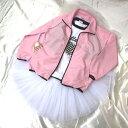 バレエジャケット/淡ピンクウォームアップウエア,ダンス上着,バレエ用品
