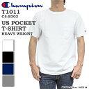 ★限定クーポン MAX1000円OFF対象商品(条件有)★ Champion チャンピオン Tシャツ T1011 ポケット ポケT 胸ポケット トップス 無地 クル…