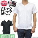 RED KAP レッドキャップ Vネック Tシャツ 半袖 メンズ パックTシャツ 無地 2枚組 Single Jersey