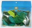 9インチ パステルクリスタル グリーンアソート20個入 天然ゴム100%