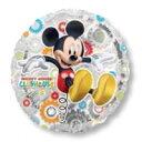 ミッキークラブハウス 45cm【ヘリウムなし】<風船/フィルムバルーン/お祝い/誕生日/バースデー/キャラクター>【楽ギフ_包装】