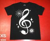 サウンド ブラックTシャツ【 The Ghost Writer - ザ ゴーストライター 】tgw016 -S- ト音記号 音部記号 楽譜 音楽 ミュージック オリジナルTシャツ