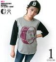 Drum Rocker 1(ドラムロッカー)3/4スリーブ ベースボールTシャツ-BPGT バンビプラネットグラフィックTシャツ-sp030bbt-G- ロック...