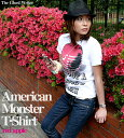 American Monster(red apple) Tシャツ-The Ghost Writer-tgw033tee-rd-G- PUNK ROCK パンクT...