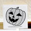 ハロウィーン ゴム印かぼちゃ(影付き)印面サイズ:約22×22mm【イラスト ゴム印・スタンプ・マンガ・評価印・ハンコ】