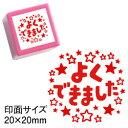 コメントゴム印スタンプ(先生 スタンプ)シヤチハタ式 浸透印よくできました(星)印面サイズ:20×20mm浸透印