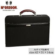 日本製 A4サイズ収納可 ビジネスバッグ McGREGOR(マックレガー) ダレスバッグ 21958 ブラック メーカ直送品  代引き不可/同梱不可
