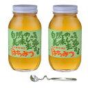 鈴木養蜂場 はちみつ 大瓶2本セット(菜の花1.2kg、レンゲ1.2kg、はちみつスプーン) メーカ直送品 代引き不可/同梱不可