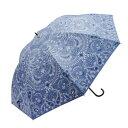 ショッピング同梱 Fair mode 晴雨兼用長傘 58cm ペイズリー SJ-1911 ブルー メーカ直送品  代引き不可/同梱不可