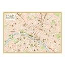 ポスター Paris Map A 2049 メーカ直送品  代引き不可/同梱不可