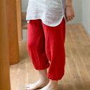 [幡INOUE] かやモンペパンツ [ギフト包装対応 奈良 蚊帳 綿100% 日本製 全5色 ホームウェア ルームウェア 井上企画・幡 BAN INOUE]