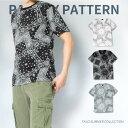 【送料無料】 3color ペイズリー柄 Tシャツ 半袖 クルーネック メンズ レディース コーデ T