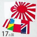 17ヶ国 バンダナ 国旗 50×50cm メンズ レディース 旭日旗 日の丸 日章旗 星条旗 ユニオンジャック 三角巾 大判 赤 黒 白 緑 黄色 ペイズリー 無地 キッズ スタイ 通販 スカーフ ラグ 大きいサイズ bnd-0062