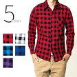 5color ブロック チェックシャツ ネルシャツ メンズ/レディース/ユニセックス/長袖/ギンガム/バッファロー/チェック/コットン/シャツ/【オススメ】 cms-0002