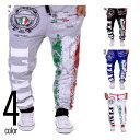 4color Italy スウェットパンツ イージーパンツ メンズ/ジャージ/クロップドパンツ/ジョガーパンツ/スポーツパンツ/ルームウェア/ダンスパンツ/フィットネス/ランニング/大きいサイズ csl-0002