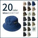 【送料無料】 20color バケットハット 無地&迷彩柄 UCLA メンズ レディース ユ