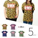 5color ヒョウ柄Tシャツ レオパードTシャツ Red-Mohican メンズ レディース Mens&Ladies ユ