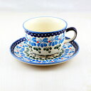 カップ&ソーサー ポーランド陶器|ウィザ社|WIZA|ポーランド食器|ボレスワヴィエツ|北欧|ポーリッシュ・ポタリー|Polish Pottery|伝統|ティーカップ|紅茶|コーヒー|珈琲カップ|プレゼント|ギフト|バースデー|母の日|【楽ギフ_包装】 10P18Jun16