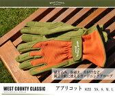 ウエストカウンティー クラシック 【アプリコット】 (革手袋、皮手袋、ガーデングローブ、レディース メンズ、園芸手袋) ※土と同梱可※