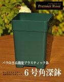 【6角】プレミアローズセレクション【6号角深鉢】バラ向き プラ鉢.プラスティック鉢