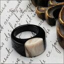 水牛 リング バッファローホーン 指輪 バッファロー ジュエリー アクセサリー レディースジュエリー 品質保証 プレゼント 贈り物 ファッション セレクトジュエリー 30代 40代 50代 60代 おすすめ エシカルジュエリー 送料無料