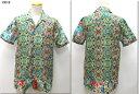 LOST IN ALBION 【ロストインアルビオン】 ハワイアンフローラルオープンカラーシャツ アロハ 半袖シャツ イタリア製 LA198012