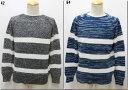 ショッピングセーター Blue Work 【ブルーワーク】 ローゲージナイロン クルーネックニット  54-02-71-02101