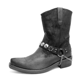 Time limited edition boots men's western boots short leather RC 10P24Feb14