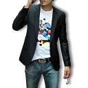 テーラードジャケット メンズ 大きいサイズ ブレザー ブルゾン アウター ビジネス カジュアル フォーマル コーデ BUZZ WEAR バズ ウェア