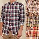 メンズ 7分袖 チェックシャツ プレゼント