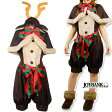期間限定 トナカイ レディース ケープ ロンパース クリスマス イベント 衣装 ※fu