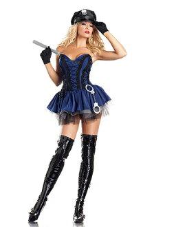 期間有限的女員警女 cosplay 帽子手銬警棍晚會事件服裝服裝 * 福 02P03Dec16