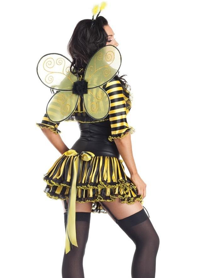 期間限定 ハロウィン 動物 レディース 蜂 妖精 羽 セクシー sexy フェミニン パーティー 仮装 衣装 コスチューム イベント ※fu:barce