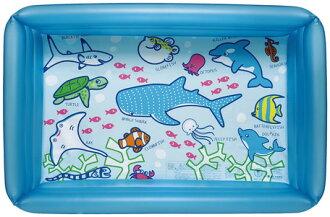 期間限制國內游泳池玩具乙烯一方形池 100 × 65 釐米藍色建議游泳池 * 福