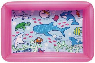 期間限制國內游泳池玩具乙烯一方形池 100 × 65 釐米粉色提案游泳池 * 福