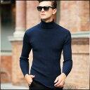 ニット メンズ トップス 長袖 タートルネック 無地 ハイネック 薄手 細身 カジュアル きれいめ 大きいサイズ メンズファッション セーター